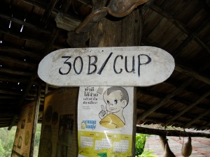 Coffee 30/baht (about a dollar)