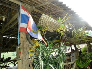 Thailand Flag at the top of the mountain